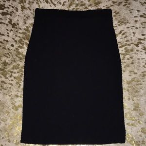 Small black knit skirt. Great staple for work. F21